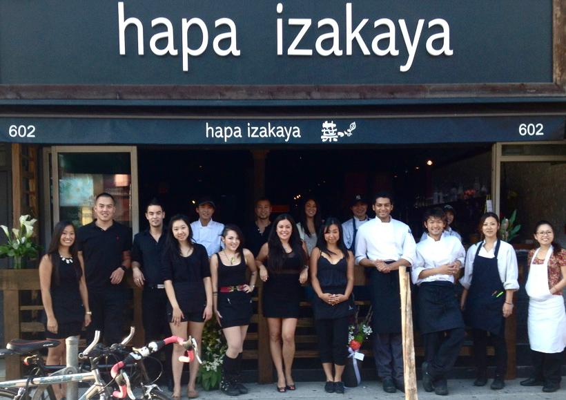 Hapa Restaurant Menu